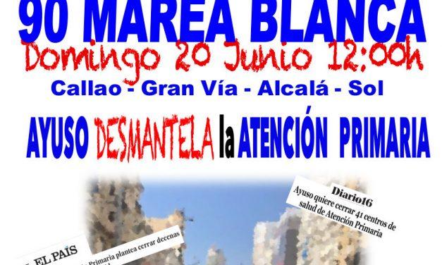 Este domingo, una gran Marea Blanca recorrerá el centro de Madrid en protesta por la gestión de Ayuso de la Atención Primaria