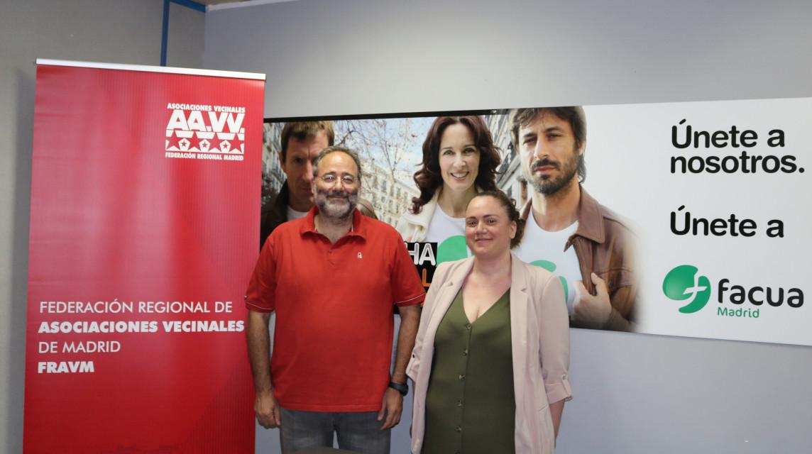 FACUA Madrid y la Federación Vecinal firman un convenio de colaboración