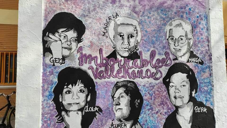El mural de las imborrables de Vallecas se queda