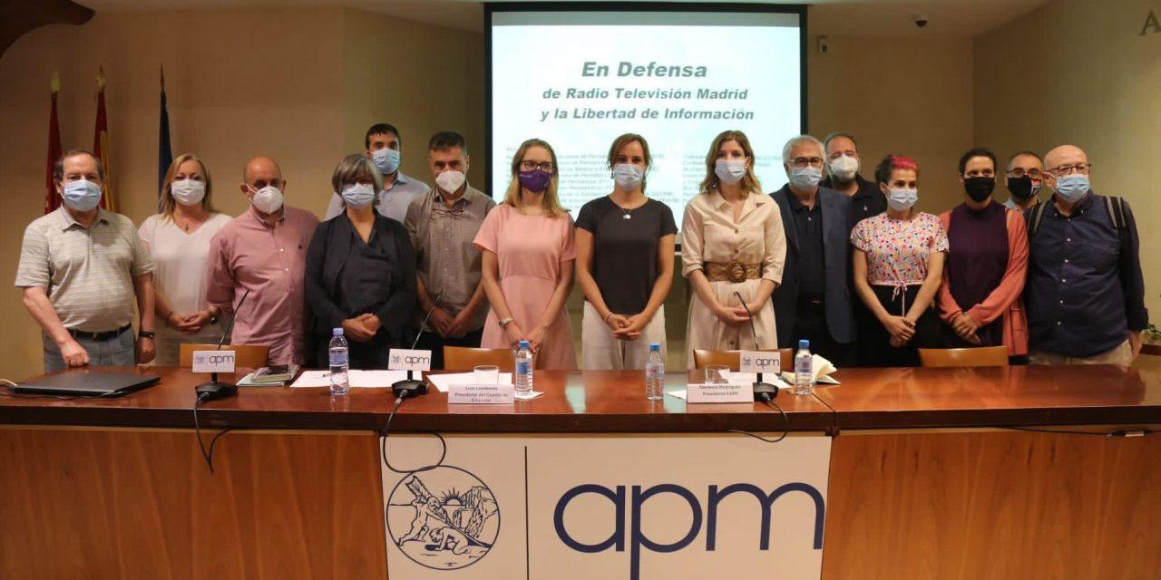 La FRAVM se une a las organizaciones de periodistas y otros colectivos en su defensa de la radiotelevisión pública madrileña