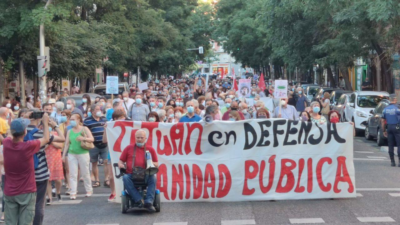 El movimiento vecinal de Tetuán convoca una nueva protesta contra el cierre del Centro de Salud de Villaamil