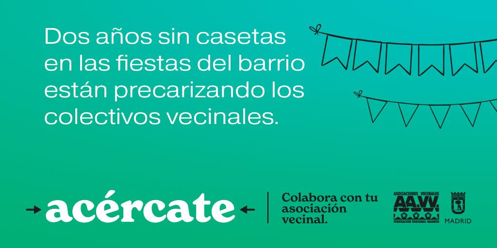 #Acércate: las asociaciones vecinales abren sus puertas e invitan a la ciudadanía a apoyarlas