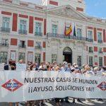 """Las familias afectadas por el Metro en San Fernando de Henares piden un """"plan integral de intervención y realojo"""" para sus viviendas"""
