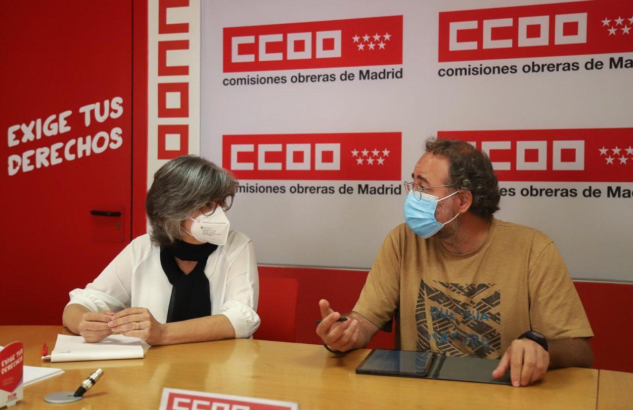 La FRAVM reafirma la sintonía con CCOO en sus objetivos para Madrid en una reunión con su nueva dirección